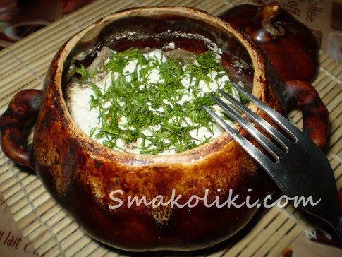 Куриная печень с овощами в горшочках. Пошаговый рецепт с фото на Smakoliki.com