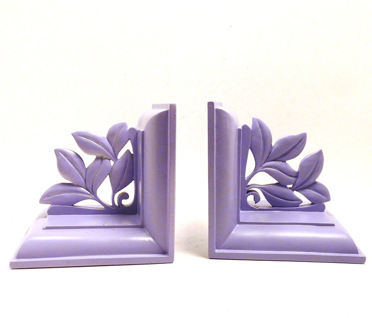 bookends, lilac, ornate, romantic, victorian, religious, pslam, home office, bookend, book ends, lavender, pastels, home accents. $27.00, via Etsy.
