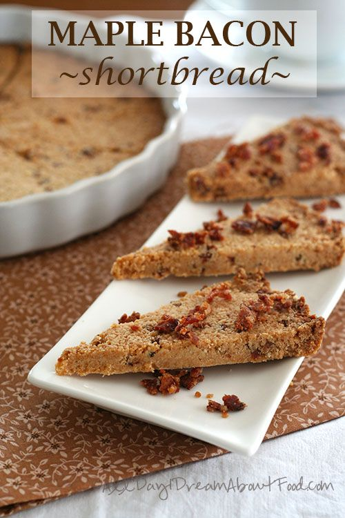 Maple Bacon Shortbread  (Low Carb and Gluten-Free!) | alldayidreamaboutfood.com