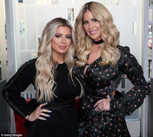 Battle of the blondes! Kim Zolciak and daughter Brielle faced off on Twitter Saturday after the 20-year-old took a jab at her mom's looks and age online, telling the 39-year-old 'u look 40'. Above the ladies are seen last fall