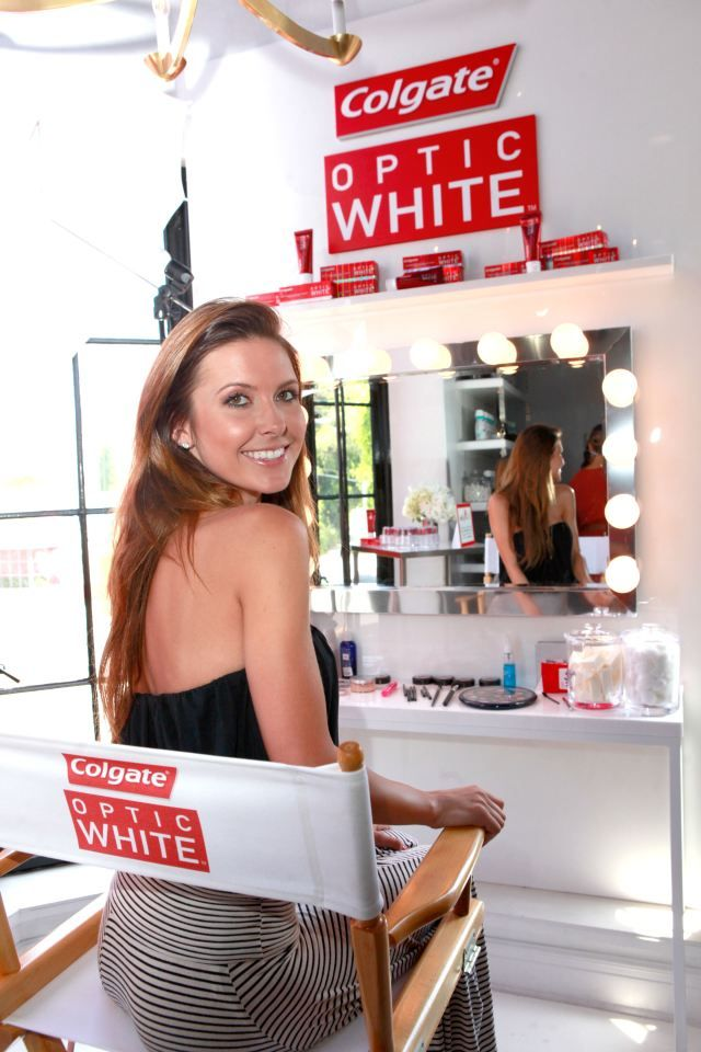 Audrina patridge at the colgate optic white beauty bar for 901 salon west hollywood