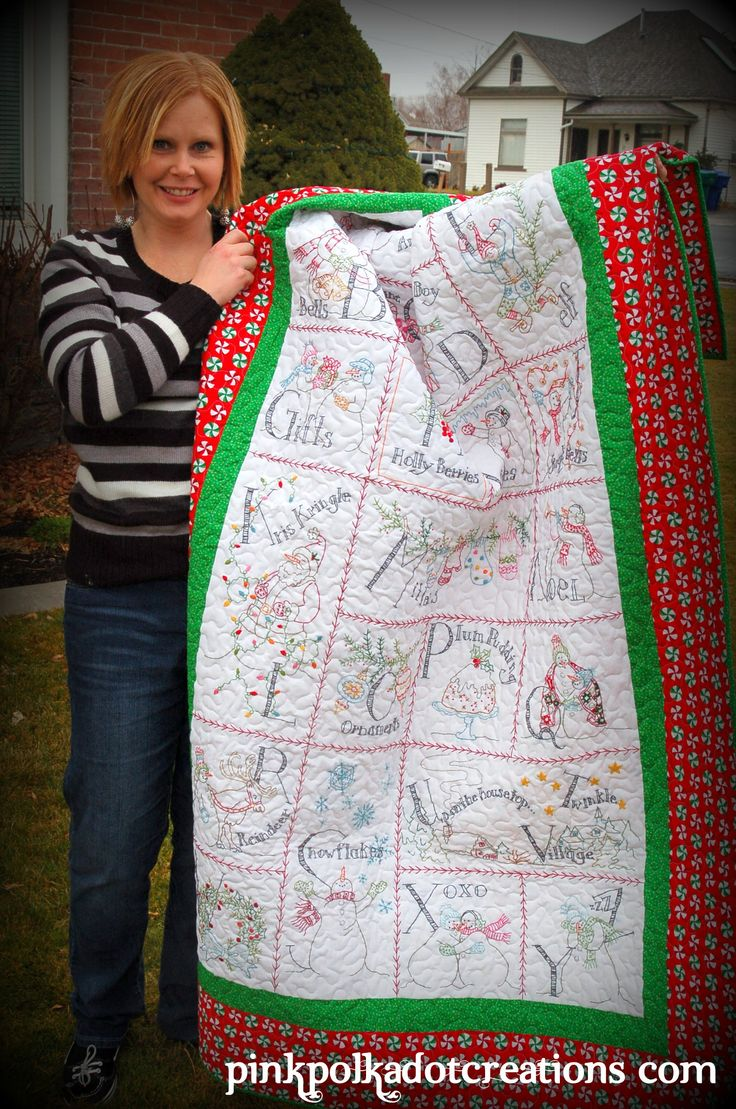 Stitched snowman Quilt pattern by crabapple hill