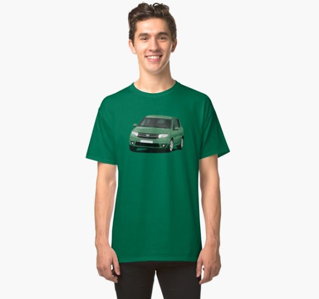 Dacia Sandero illustrations on t-shirts  #dacia #sandero #daciasandero #illustration #carillustration #tshirt #green #romanian #automobiles #cars