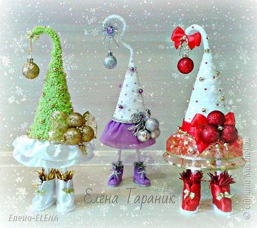 Бонсай топиарий Новый год Рождество Моделирование конструирование Елочки Бусины Кофе Кружево Шпагат фото 8
