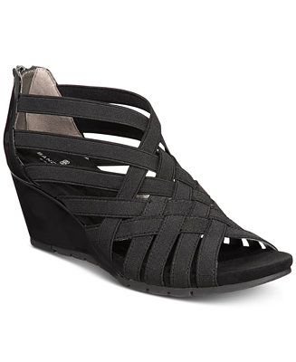 849020790 Shop Bandolino Gillmiro Strappy Wedge Sandals online at Macys.com. Woven  crisscross straps lend a hint of huarache appeal to the stylish Gillmiro  wedges ...