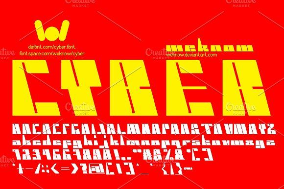 Cyber Font  by weknow on @creativemarket