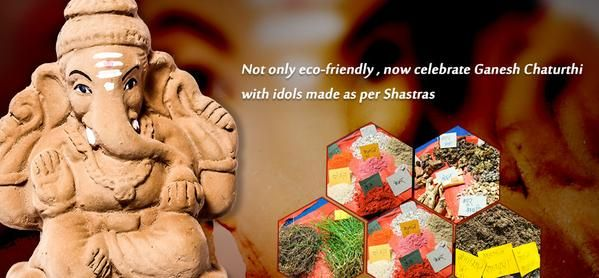 Not only #ecofriendly, now #celebrate #Ganeshchaturthi with #idols made as per Shastras.  #ganesha #ganpati #gogreen