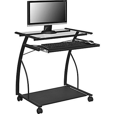 Altra Sheldon Mobile Computer Desk, Black