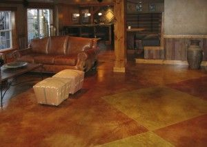Inspirational Concrete wood leather and burlap