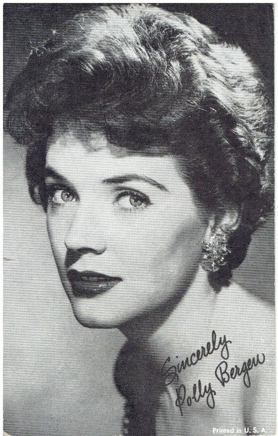 Polly Bergen Arcade Exhibit Card  by heritagepostcards #vintage #stars #photos #1960s #1970s #actress