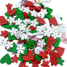 Деревянные Швейных Кнопки Кнопка малыша Скрапбукинга DIY Craft Свадебные Украшения (Рождество)(China (Mainland))