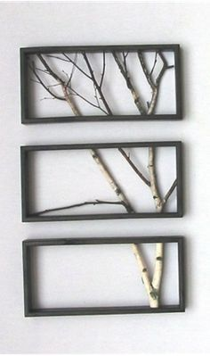 Bringing nature to the modern home. Tree Branch Art--the site that shows this lists it for $313.00---but I think with a little work it'd be easy to put together yourself.