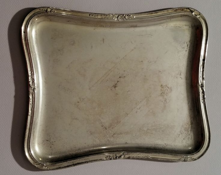 Silver-Plated Small Plate 7.5 x 9.8 in. - 19 x 25 cm.