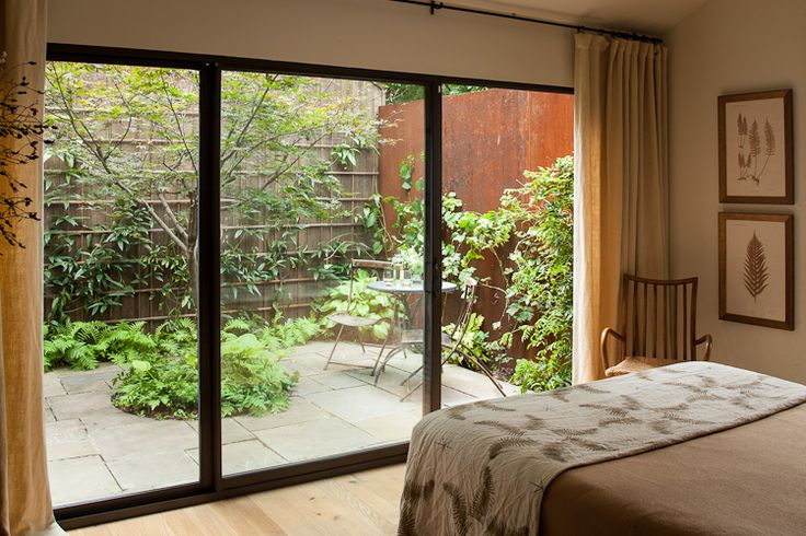 Secluded garden off the master bedroom