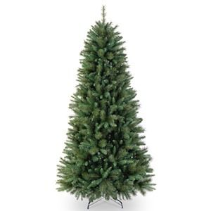 "National Tree Co. 7' 6"" Rockland Pine Artificial Christmas Tree- Slim"