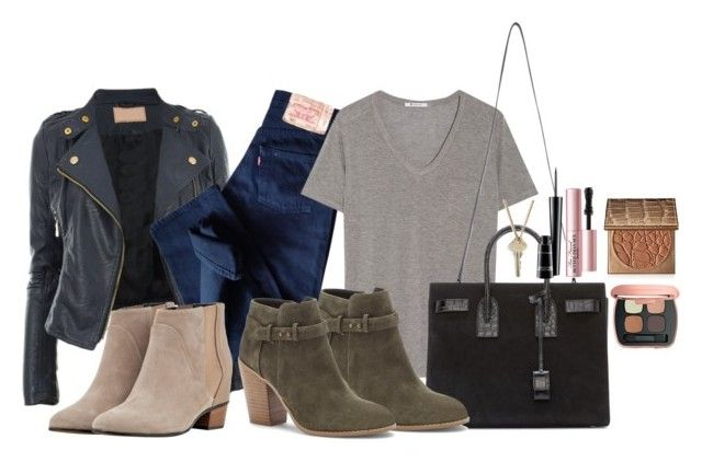 """""""Untitled #151"""" by futte22 on Polyvore featuring Levi's, T By Alexander Wang, Yves Saint Laurent, Sole Society, tarte, Too Faced Cosmetics, Bare Escentuals, MAC Cosmetics, Augusta and The Giving Keys"""