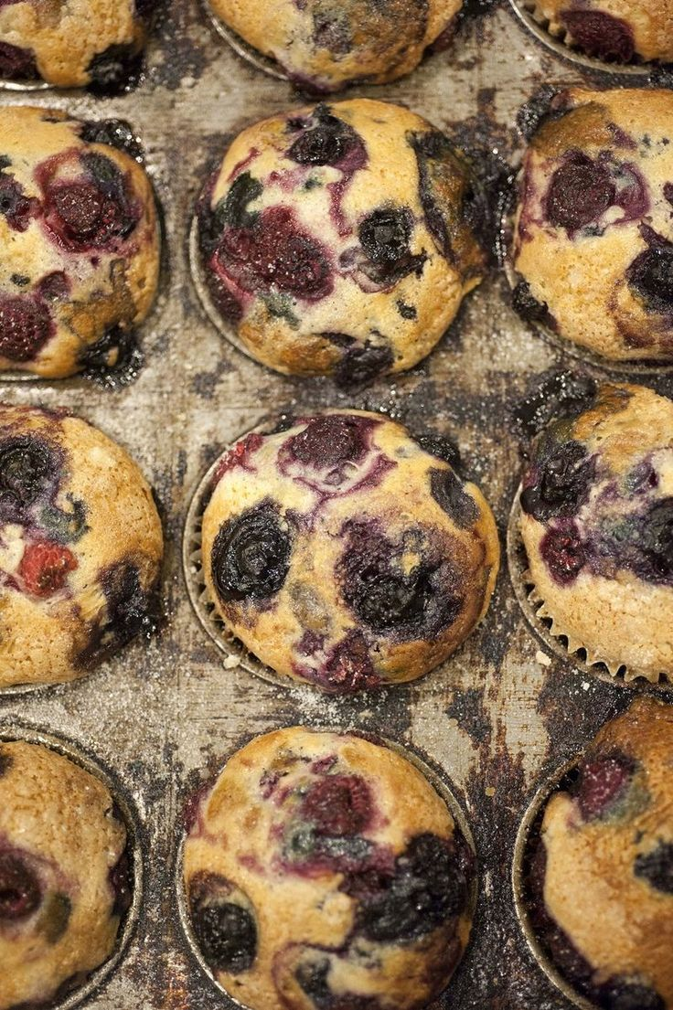 Vegan Vanilla-Mixed Berry Muffins - I now know that it's a good idea to have a few vegan-friendly recipes on hand just in case.