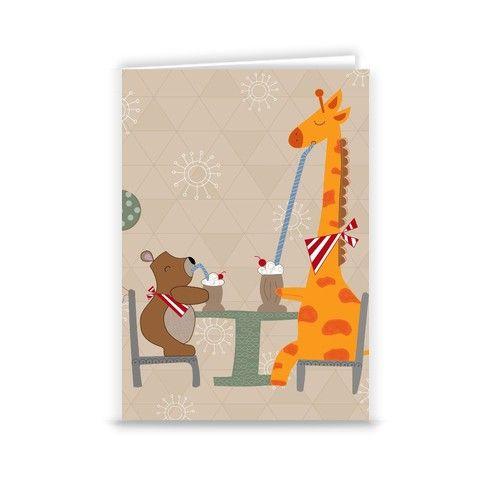 Milkshake Pals Greeting Card by kathrinlegg at zippi.co.uk