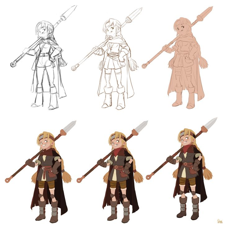 Character Design Process : Best images about tutorials painting process on