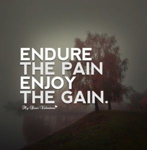 Endure the pain enjoy the gain quotes