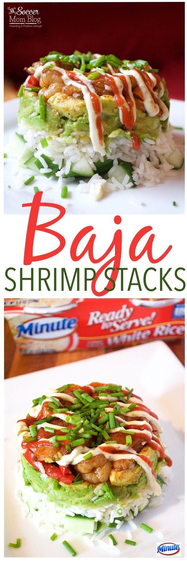 This is one of those recipes that will really WOW 'em!! These Baja Shrimp Stacks are zesty, healthy, and super impressive! (But actually easy to make!) MixinMinute AD @minutericeUS