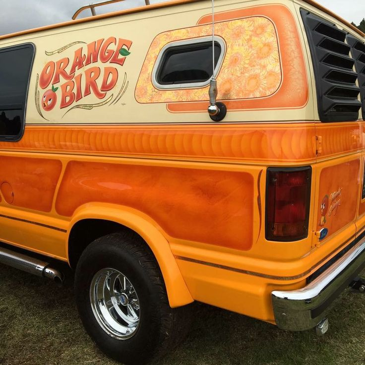 """Orange Bird"" custom van"