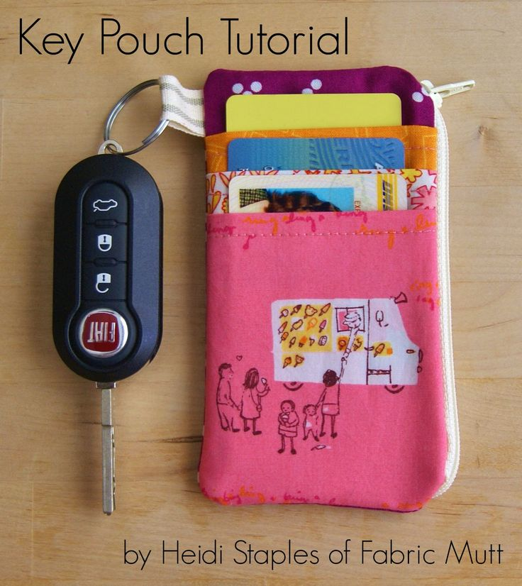 Key Pouch Tutorial by Heidi Staples at Fabric Mutt                                                                                                                                                      More