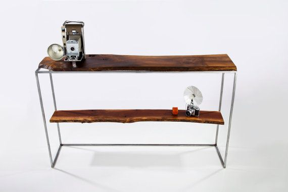 hand crafted console sofa table entry table black live