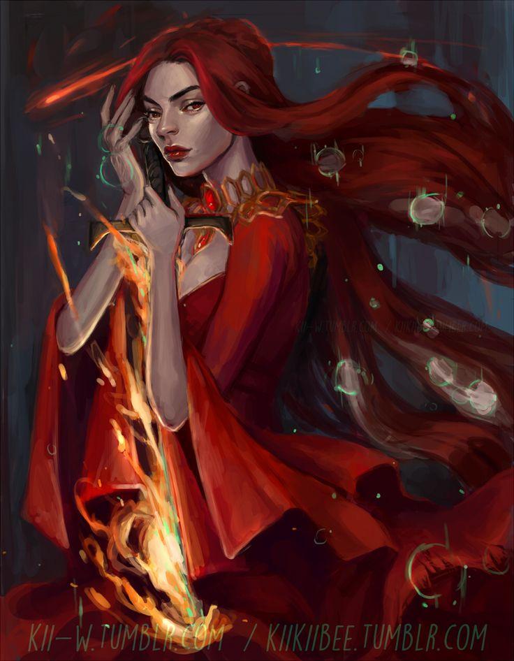 the Red Priestess by kiikii-sempai.deviantart.com on @DeviantArt