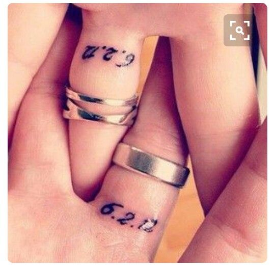 Cute, discreet couples tattoo