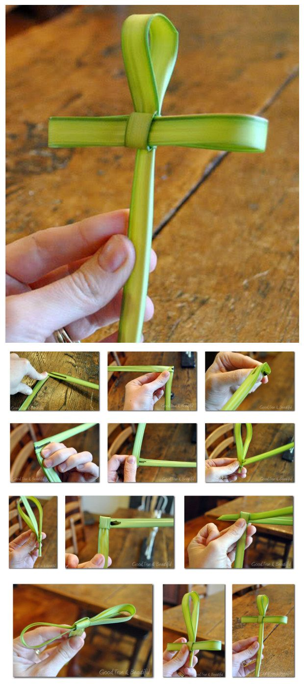 How to Make a Cross out of Palm Branch