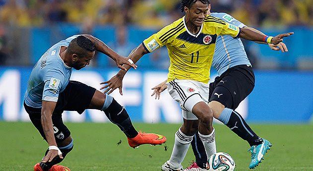 Juan Guillermo Cuadrado – 8 Otro pase gol, este de cabeza, otro partido de desequilibrio –especialmente en el primer tiempo-. Cuadrado es la llave esencial de James Rodríguez, entre los dos han tatuado jugadas y goles increíbles para la selección Colombia, pero solo se vale por su calidad inmensa y entrega.