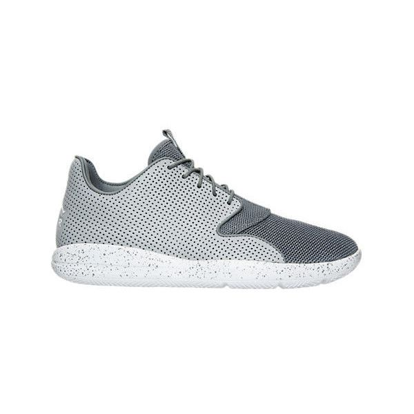 Nike Men's Air Jordan Eclipse Off Court Shoes ($90) ❤ liked on Polyvore featuring men's fashion, men's shoes, men's athletic shoes, grey, nike mens shoes, mens grey shoes, mens shoes and mens leopard print shoes