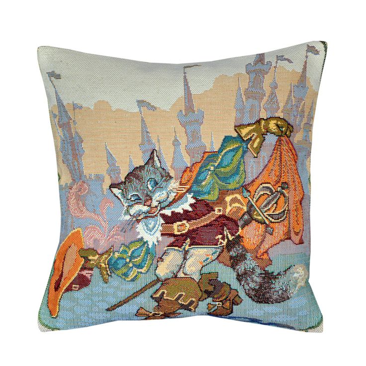 Puss in Boots Tapestry Cushion 30x30cm