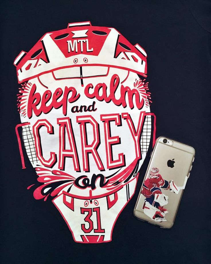 """Keep Calm and Carey On"" tee & ""Carey Montreal"" phone case. www.NorthLegends.ca"