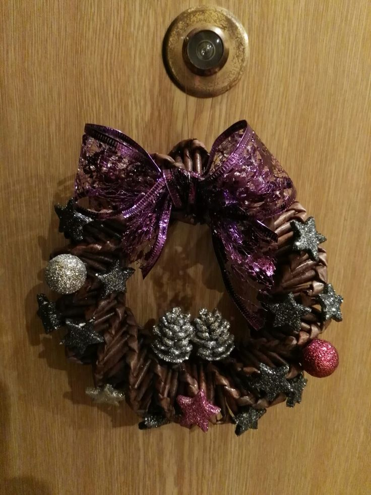Vánoční věneček na dveře