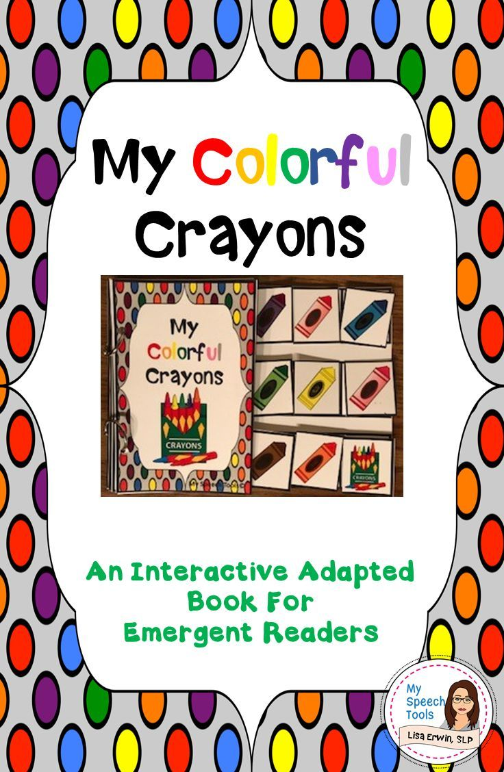 My Colorful Crayons An Adapted Speech Therapy Book About Colors