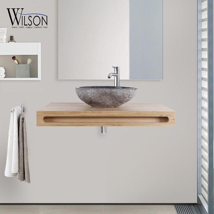 10 best Plans suspendus Salle de bains - Wilson images on Pinterest - meuble salle de bain panier a linge