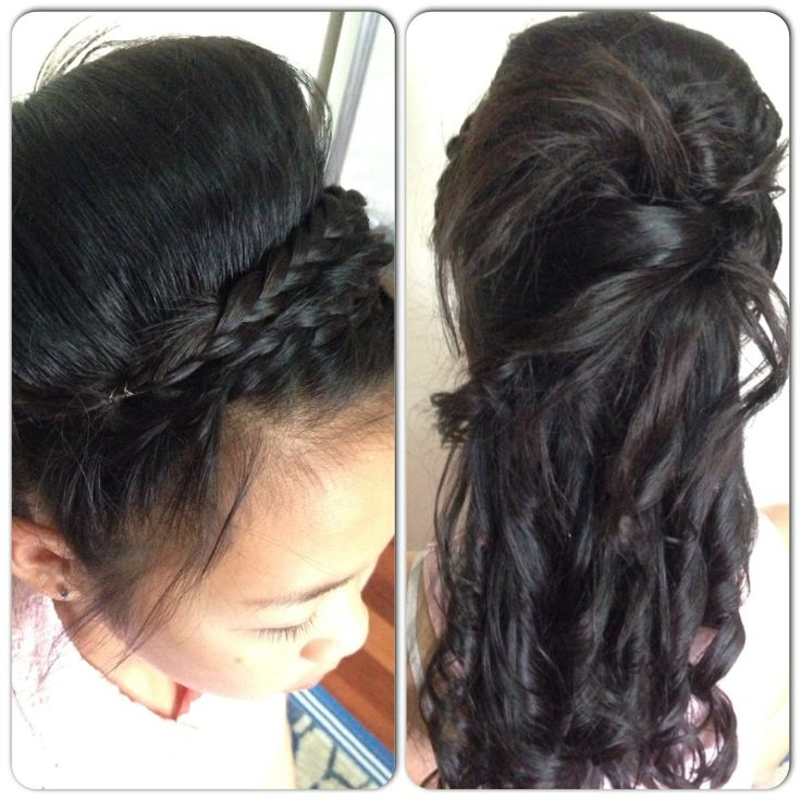 Half Up-do with curls