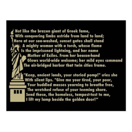 best patriotic poems ideas th images th  statue of liberty new colossus patriotic poem postcard