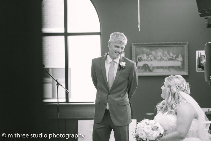 Beautiful Bride with Father Elegant Wedding Ceremony | The Majestic Vision Wedding Planning | St Jerome Catholic Church in Milwaukee, WI | www.themajesticvision.com | M Three Studio