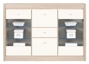 AX7 AXEL BOGFRAN sideboard. Modern design. Geometric shapes. Massive frame. Hinges with integrated dampers ensure the doors close slowly, silently and softly. Polish Bogfran Modern Furniture Store in London, United Kingdom #furniture #polish #bogfran #dresser #cabinet