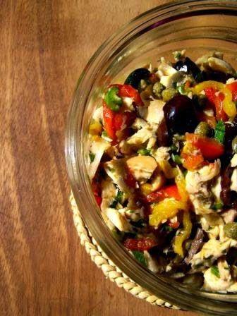 Insalata di pollo con capperi e olive - Chicken salad with olives and capers - @foodbookscrafts
