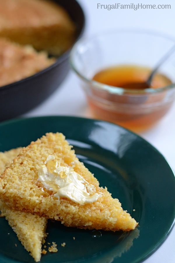 An easy homemade sweet cornbread recipe that you can prepare in a skillet or in a baking dish. This is our go to recipe for cornbread that turns out every time.