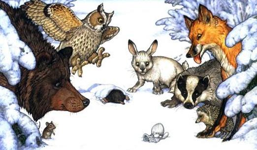 """Jan Brett, """"The Mitten"""".  Love her illustrations!"""