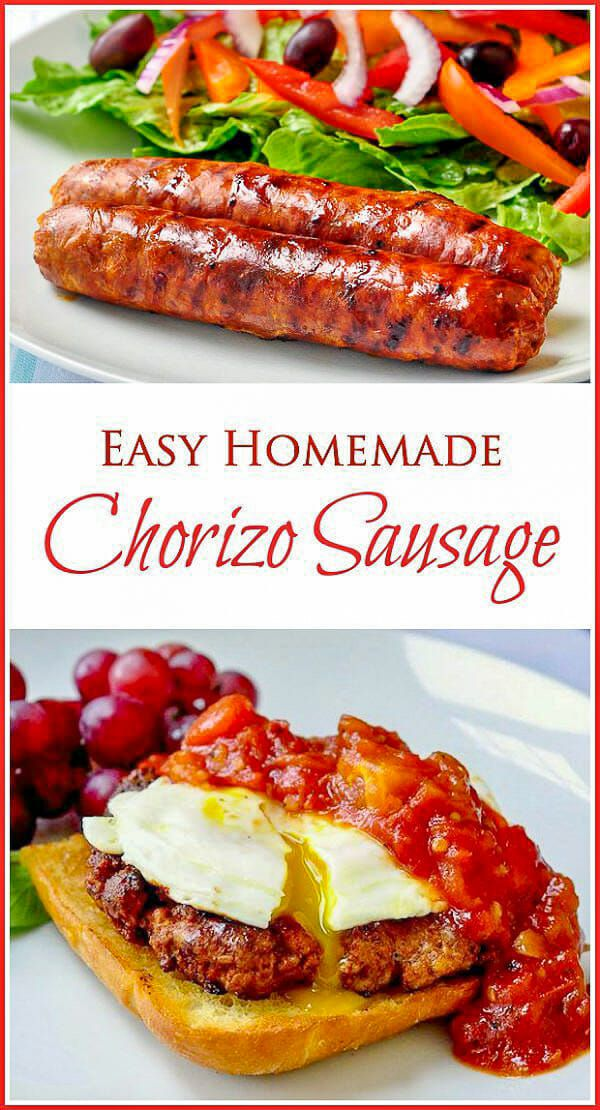 Easy Homemade Chorizo Sausage; Lower Salt & No Preservatives! Some freshly ground pork and some common ingredients and readily available spices is all ...