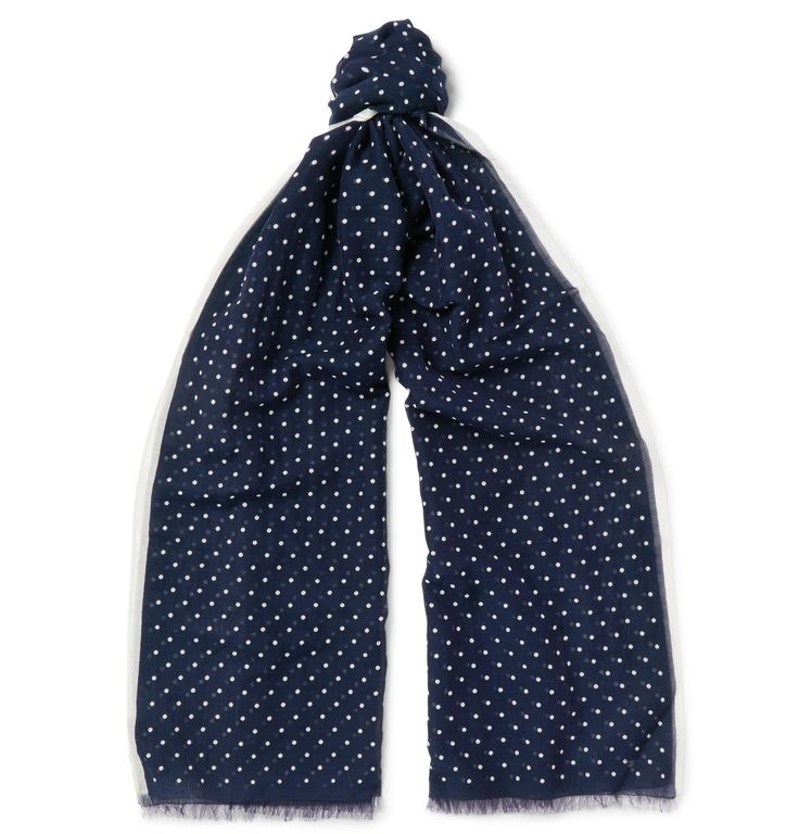<b>Designed exclusively for MR PORTER.</b> <a href='http://www.mrporter.com/mens/Designers/Kingsman'>Kingsman</a>'s polka-dot scarf is designed by London-based brand <a href='http://www.mrporter.com/Shop/Designers/Drakes'>Drake's</a>, a company defined by its 'uncompromising dedication to excellence'. This piece is made from a light, easy blend of cot...