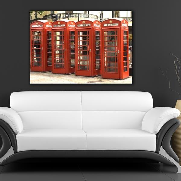 Τηλεφωνικοί θάλαμοι Λονδίνου πίνακας σε καμβά