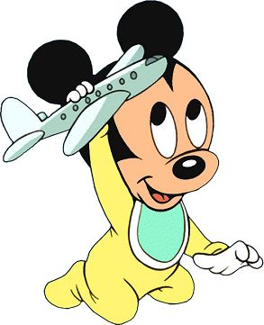 Mickey Mouse As A Baby | Disney Heaven - Mickey 'N Friends - Mickey Mouse Clipart