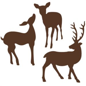Deer set of 3 SVG